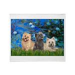 Lilies3/3 Cairn Terriers Throw Blanket
