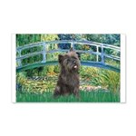 Bridge /Cairn Terrier (w) 20x12 Wall Decal