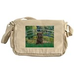 Bridge /Cairn Terrier (w) Messenger Bag