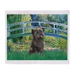 Bridge /Cairn Terrier (w) Throw Blanket