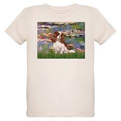 Lilies2 & Cavalier Organic Kids T-Shirt