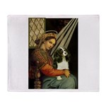 Madonna & Tri Cavalier Throw Blanket