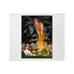 Fairies & Cavalier Throw Blanket