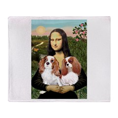 Mona's 2 Cavaliers Throw Blanket