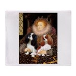 The Queens Cavalier Pair Throw Blanket