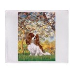 Spring & Cavalier Throw Blanket