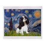 Starry Night Tri Cavalier Throw Blanket