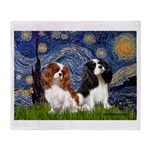 Starry Cavalier Pair Throw Blanket
