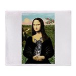 Mona Lisa / Chihuahua Throw Blanket