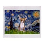 Starry Night Chihuahua Throw Blanket