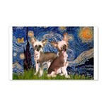 Starry Night / 2Chinese Crest 20x12 Wall Decal