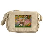 Garden / Chinese Crested Messenger Bag