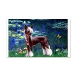 Lilies / Chinese Crested 20x12 Wall Decal