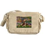 Lilies / C Crested(HL) Messenger Bag