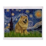 Starry / Chow #! Throw Blanket