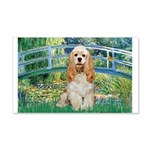 Bridge / Cocker Spaniel (buff) 20x12 Wall Decal