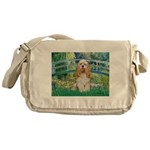 Bridge / Cocker Spaniel (buff) Messenger Bag
