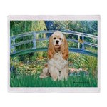 Bridge / Cocker Spaniel (buff) Throw Blanket