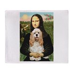 Mona Lisa / Cocker Spaniel Throw Blanket