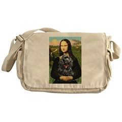 Mona's Black Cocker Spaniel Messenger Bag