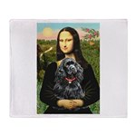 Mona's Black Cocker Spaniel Throw Blanket