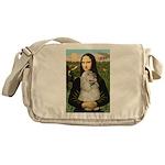 Mona Lisa /Cocker Spaniel Messenger Bag
