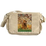 Spring /Cocker Spaniel (buff) Messenger Bag