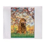 Spring /Cocker Spaniel (buff) Throw Blanket