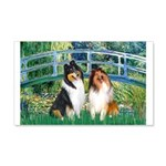 Bridge / Two Collies 20x12 Wall Decal