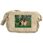 Bridge / Two Collies Messenger Bag
