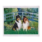 Bridge / Two Collies Throw Blanket