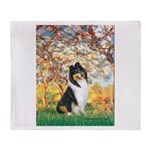 Spring / Collie Throw Blanket
