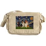Starry Night / Collie pair Messenger Bag