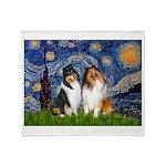 Starry Night / Collie pair Throw Blanket