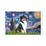Starry Night / Collie (tri) 20x12 Wall Decal