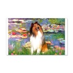 Lilies (2)/Collie (1S) 20x12 Wall Decal