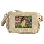 Lilies (2)/Collie (1S) Messenger Bag
