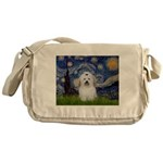 Starry Night Coton de Tulear Messenger Bag