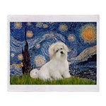 Starry / Coton de Tulear (#7) Throw Blanket