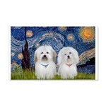 Starry / Coton Pair 20x12 Wall Decal