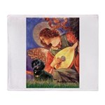 Mandolin Angel & Doxie (BT) Throw Blanket