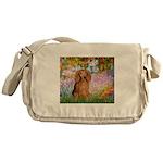 Garden -Dachshund (LH-Sable) Messenger Bag