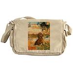 Garden (VG) & Dachshund Messenger Bag