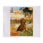 Garden (VG) & Dachshund Throw Blanket