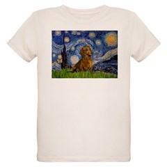 Starry / Dachshund Organic Kids T-Shirt