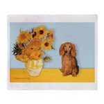 Sunflowers - Doxie (LH,S) Throw Blanket