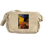 Cafe /Dachshund Messenger Bag