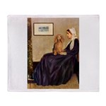 Whistler's /Dachshund(LH-Sabl) Throw Blanket
