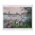 Seine / Dalmatian #1 Throw Blanket