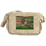 Lilies/ Dalmatian #1 Messenger Bag